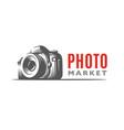 photo camera logo - classic vector image