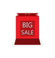 shopping bags red white color vector image