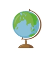 Globe icon in flat style vector image