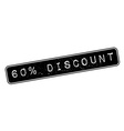 60 percent discount rubber stamp vector image