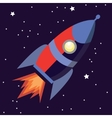 a cute cartoon rocket space ship vector image