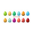 a set decorated colored eggs happy easter vector image