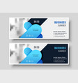 abstract business banner design set vector image