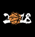 abstract number 2018 and basketball vector image vector image