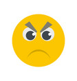 angry smile icon flat vector image