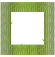 bamboo branches is rectangular position for frame vector image