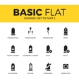 Basic set of condom icons vector image vector image
