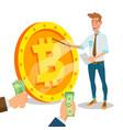 bitcoin innovative start up monetization vector image