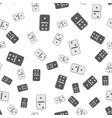 black and white domino pattern seamless vector image vector image