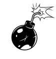 bomb in comic style vector image