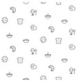 breakfast line icons seamless pattern food vector image vector image