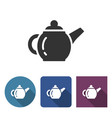 brewing teapot icon in different variants vector image vector image
