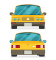 car front and rear flat vector image