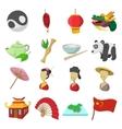 china cartoon icons vector image vector image