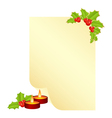 christmas form for the letter with new year decora vector image vector image