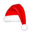 christmas santa claus hat with fur new year vector image vector image
