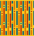 colored strips and circles geometric pattern vector image vector image