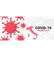 coronavirus covid-19 banner vector image