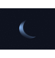 Crescent moon and starry sky vector image vector image