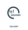 delivery 24 icon mobile apps printing and more vector image vector image