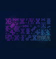 dna colorful horizontal banner or linear vector image