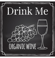 drink me elements on theme restaurant b vector image