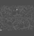 electronics chalk line art design vector image vector image
