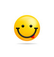emoji smile icon symbol smiley face with tongue vector image vector image