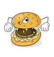 fast food unhealthy eating concept bad hamburger vector image