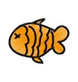 fish meat isolated icon vector image vector image