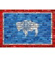 Flag of Wyoming on a brick wall vector image vector image