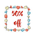 frame of precious stones sale 50 off manual vector image