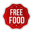 free food label or sticker vector image vector image