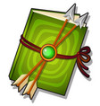 gift decorated book with arrows isolated on a vector image vector image