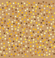 gold spotted pattern vector image vector image
