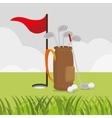 golf club sport icon vector image vector image
