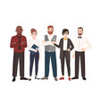 group office workers standing together team of vector image vector image