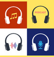 headphones audio concepts vector image