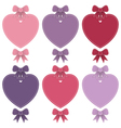 heart shaped labels vector image vector image