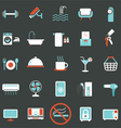 Hotel Accommodation Amenities Services Icons Set B vector image
