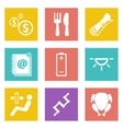 Icons for Web Design set 16 vector image vector image