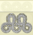 infinity tattoo template in mehndi style vector image vector image