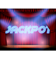 jackpot stage with red curtain vector image vector image