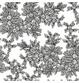 juniper tree seamless pattern hand drawn vector image
