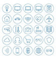 Line Circle Internet of Things Icons Set vector image vector image