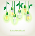 Many ecology light bulbs growing up