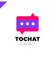 mini chat logo bubble and three dots vector image