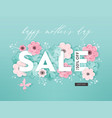 mothers day sale design spring promo discount vector image vector image