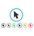 mouse cursor rounded icon vector image vector image