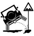 offroad car pissing 2 vector image vector image